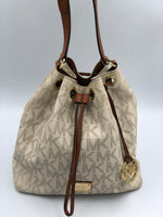 Cartera Bucket Bag Monogram Michael Kors