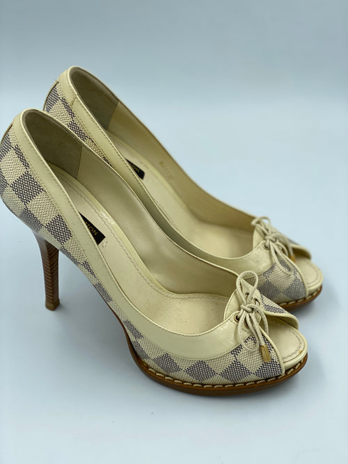 Louis Vuitton Damier Azur Palm Beach Pumps (38.5)