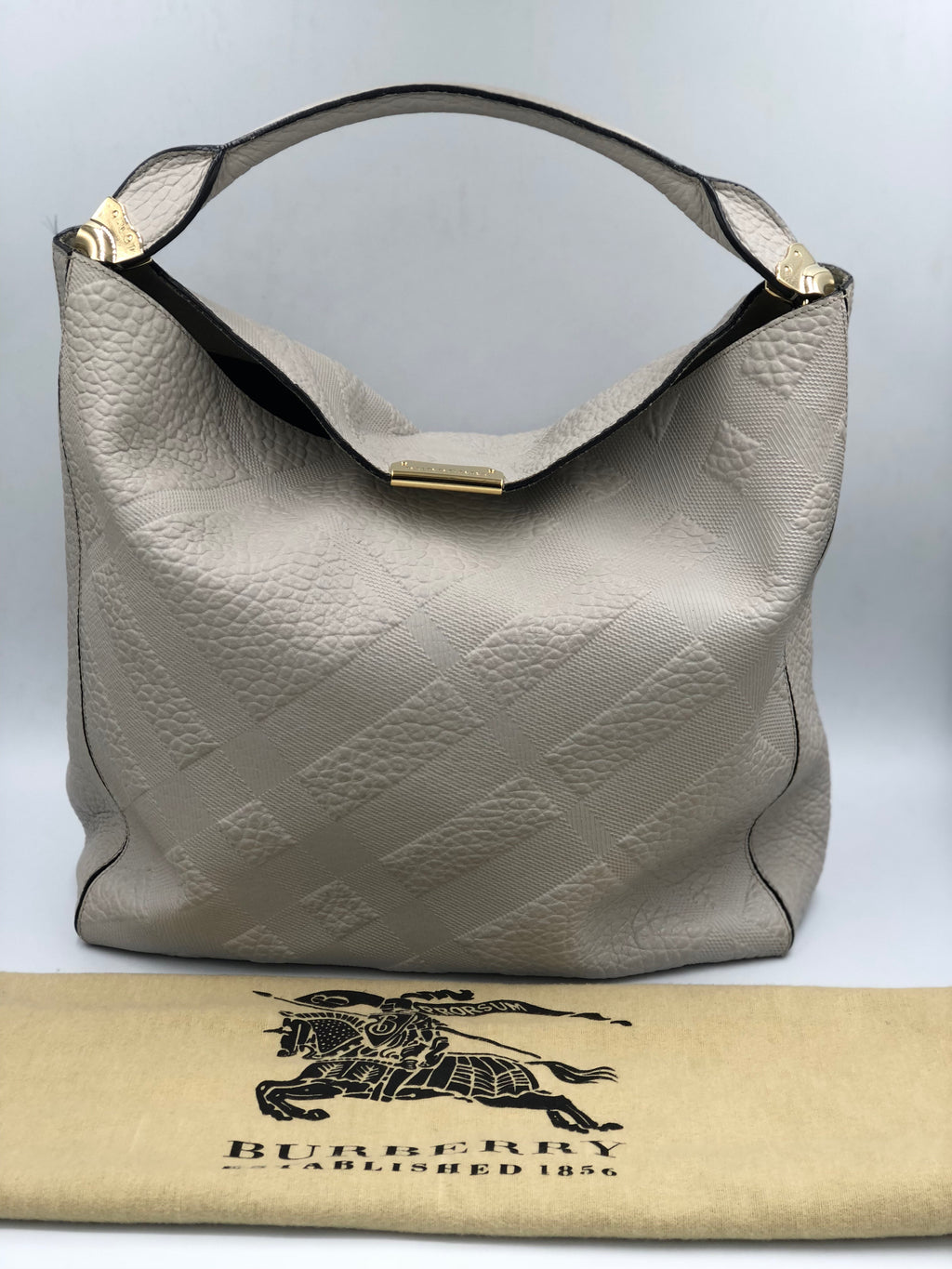Shoulder bag de cuero Burberry