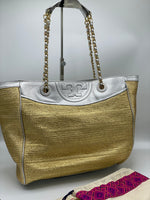 Cartera Tory Burch Gold & Silver