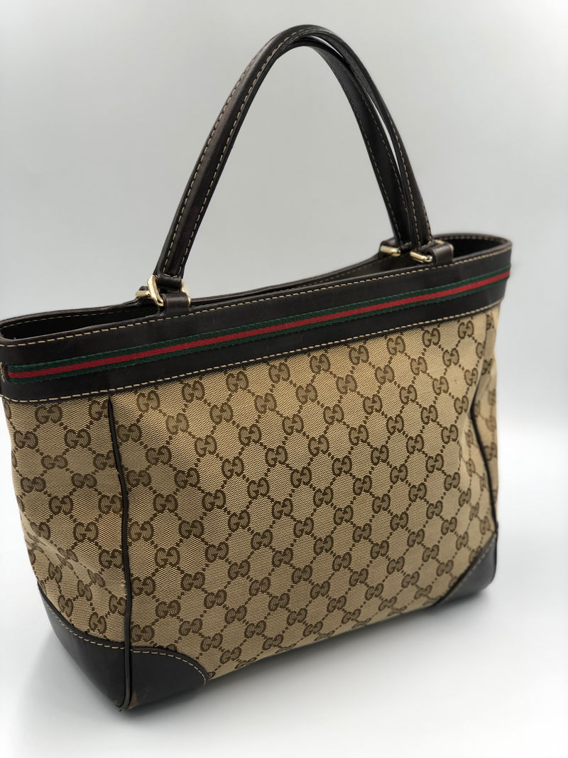 Cartera Gucci Canvas Mayfair Tote Bag