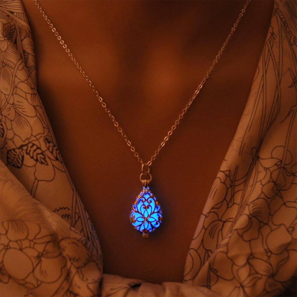 Glow In The Dark Drop Necklace