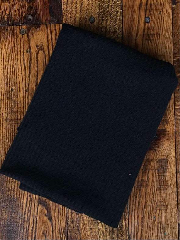 Black Waffle on Poly Rayon Spandex (LAST YARDS - NOT CONTINUOUS)