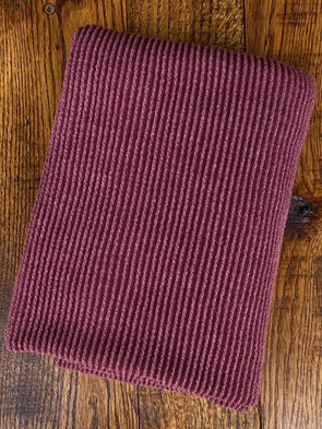 Dark Wine Urban Rib Poly Rayon Spandex(LAST YARDS- NOT CONTINUOUS)