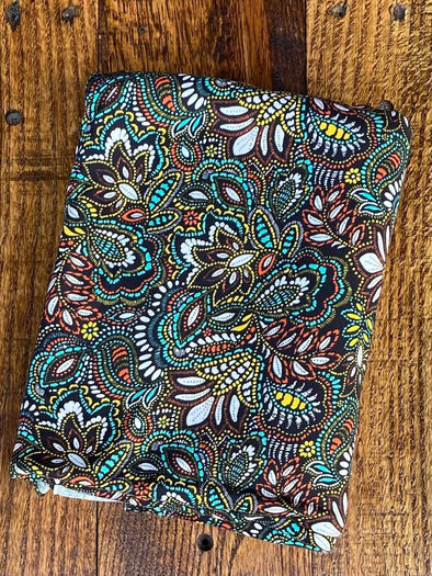 Mint Paisley  Double Brushed Poly Spandex