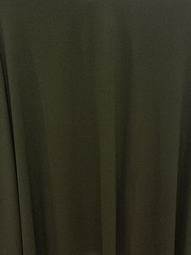 Double Brushed Army Green Poly Spandex