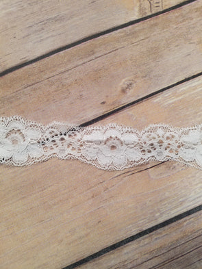 "White Scallop 1"" Stretch Trim Lace KP0036"