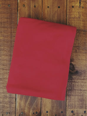 Dark Red Double Brushed Poly Spandex