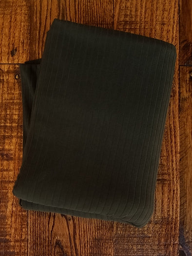 Olive Single Brushed Rib Poly Spandex (LAST YARDS - MAY NOT BE CONTINUOUS)