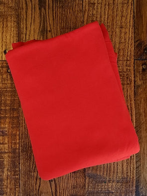 TOMATO Red Double Brushed Poly Spandex