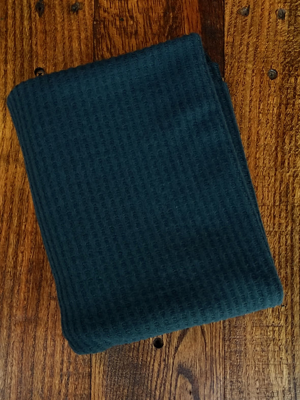 Teal Brushed Waffle Poly Rayon Spandex
