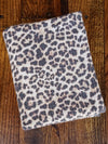 Light Taupe Brushed Waffle Leopard Animal Print Poly Rayon Spandex