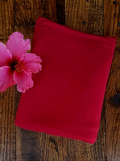 Rose Red Double Brushed Poly Spandex