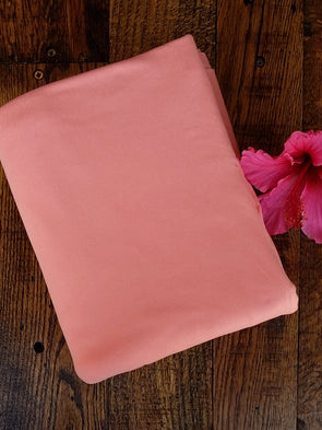 DARK PEACH NEW Double Brushed Poly Spandex (LAST YARDS - NONCONTINUOUS)