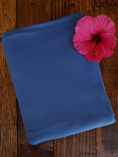 Indigo Double Brushed Poly Spandex