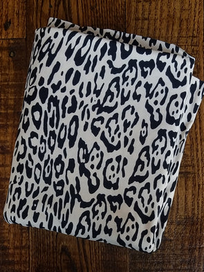Ivory Cloud Leopard on Double Brushed Poly Spandex