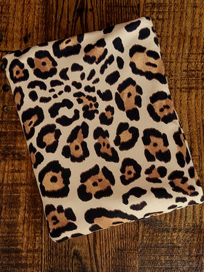 Latte Animal Print on Double Brushed Poly Spandex