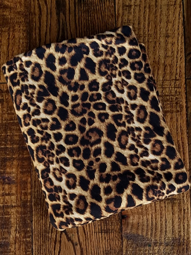 Small Brown Leopard Print Double Brushed Poly Spandex
