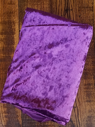 Purple Crushed Stretch Velvet