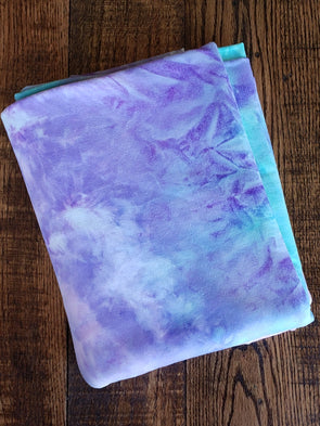 Multicolor Pink & Lilac Tie Dye Double Brushed Poly Spandex