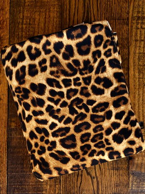 Light Brown Leopard Print Double Brushed Poly Spandex