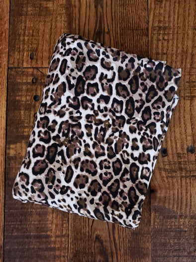 Olive Cheetah Animal Print on Double Brushed Poly Spandex