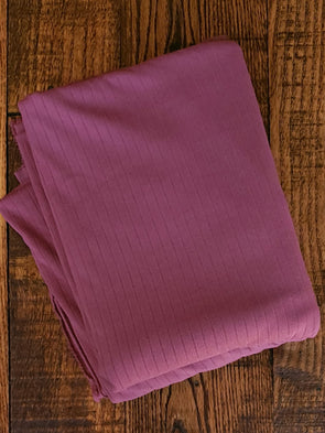 Dark Mauve Single Brushed Rib Poly Spandex