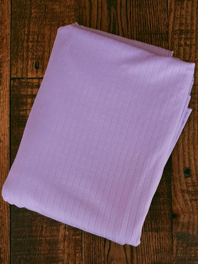 Lavender Single Brushed Rib Poly Spandex