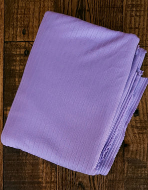 Lilac Single Brushed Rib Poly Spandex