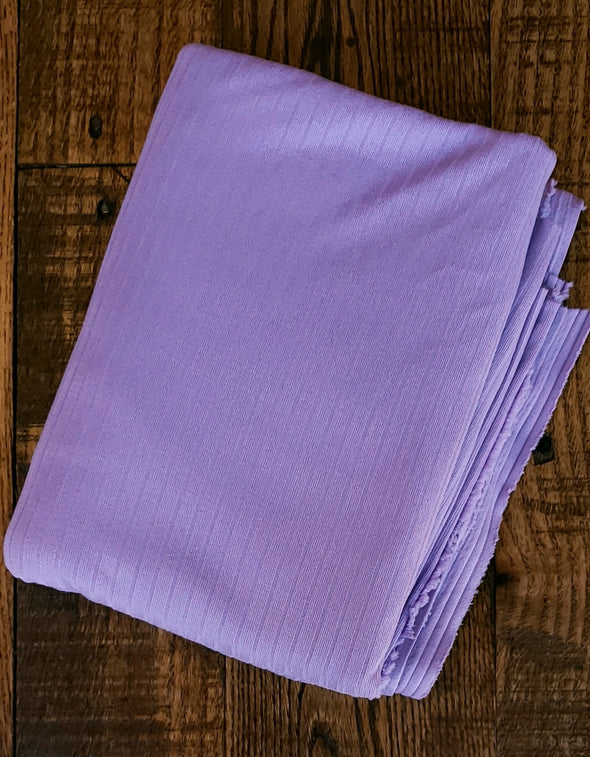 Lilac Single Brushed Rib Poly Spandex(LAST YARDS- NOT CONTINUOUS)