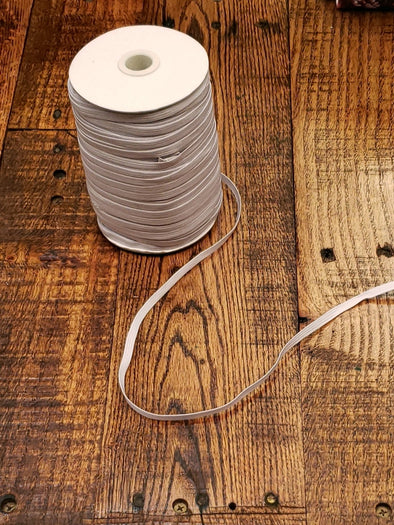 "FULL ROLL - 1/4"" Off White Elastic - 120 YARDS GIVE OR TAKE"