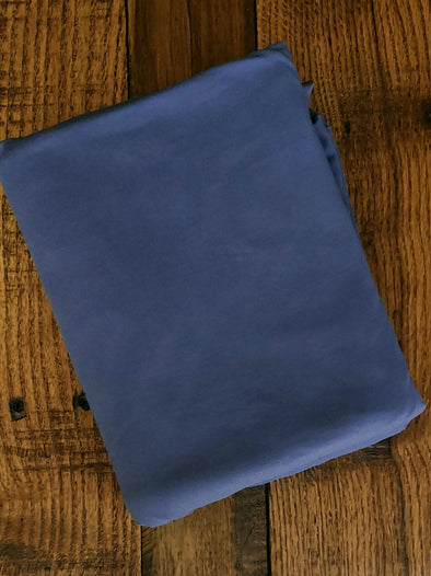 Double Brushed Dark Denim Poly Spandex(LAST YARDS- NOT CONTINUOUS)