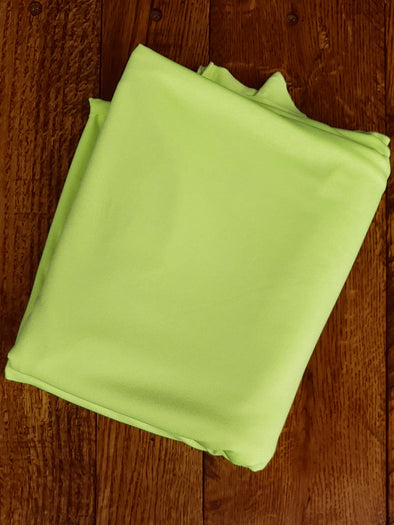 Matte Neon Lime Yellow Lightweight Athletic Knit 245GSM