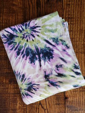 Lavender/Sage Tie Dye Explosion Double Brushed Poly Spandex