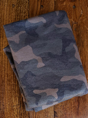 Moss Camouflage French Terry Poly Rayon Spandex