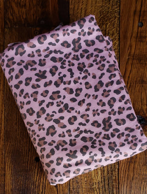 Dusty Rose Animal Print FRENCH TERRY Poly Rayon Spandex