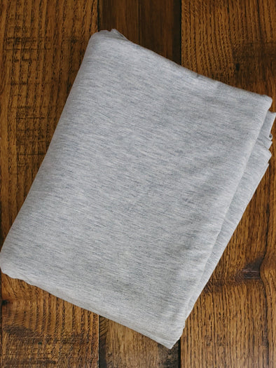 Light Heather Grey Modal Cotton Spandex Jersey 10oz