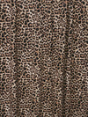 Small Light Taupe Leopard Print FRENCH TERRY Poly Rayon Spandex