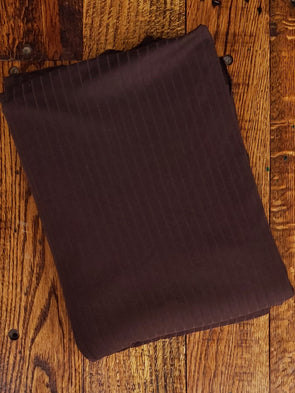 Brown Single Brushed Rib Poly Spandex