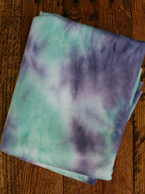 FLASH DEAL - Ripple Tie Dye French Terry Fleece Poly Rayon Spandex