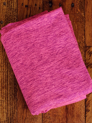 Neon Pink Heather YOGA Knit 280GSM (LAST YARDS - NOT CONTINUOUS)