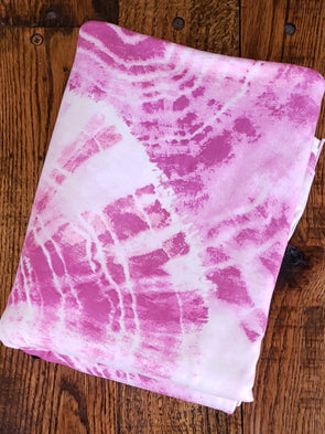 Pink Tie Dye Double Brushed Poly Spandex
