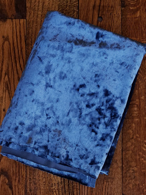 Denim Crushed Stretch Velvet(LAST YARDS- NOT CONTINUOUS)