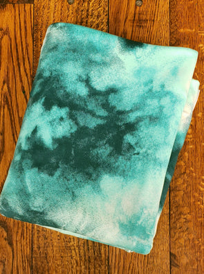 Seafoam Tie Dye Double Brushed Poly Spandex
