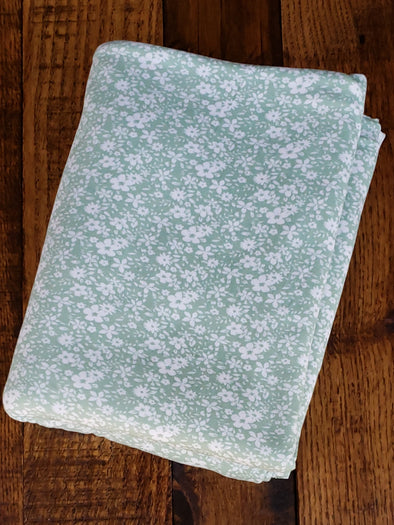 Ivory Mia Floral on Sage Double Brushed Poly Spandex