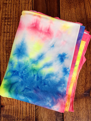 NEW APRIL 2021 Neon Rainbow Tie Dye Double Brushed Poly Spandex