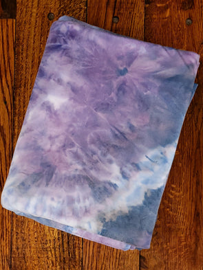 Lavender & Blue Mirage Tie Dye Double Brushed Poly Spandex