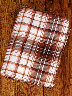 Coconut & Ivory Plaid Double Brushed Poly Spandex