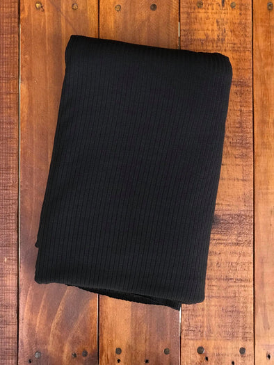 Black RIB 5*2 VISCOSE Spandex