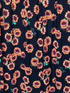 Sunflower on Black Scuba Crepe Poly Spandex (LAST YARDS)